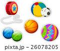 Sticker set of different balls 26078205