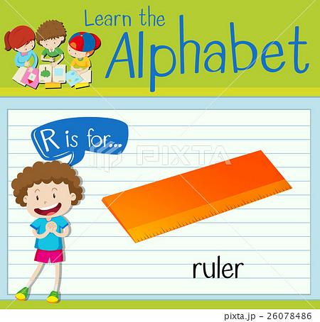 Flashcard alphabet R is for rulerのイラスト素材 [26078486] - PIXTA