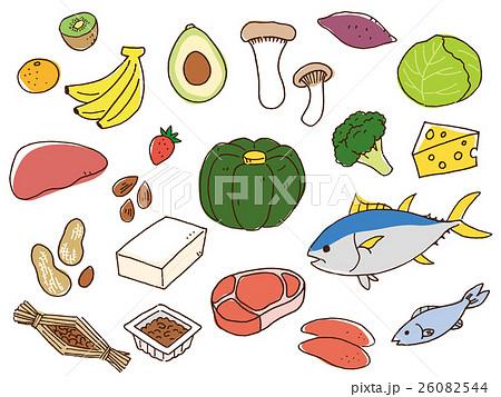 色々な食材のイラスト 26082544