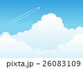 飛行機雲 飛行機 雲のイラスト 26083109