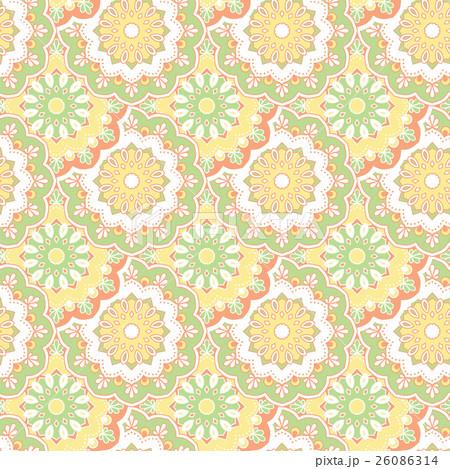 Seamless hand drawn mandala pattern. のイラスト素材 [26086314] - PIXTA