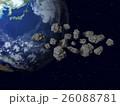 地球(小惑星、隕石、宇宙塵)などのイメージ 26088781