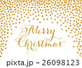 Gold confetti Christmas card 26098123