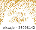 Gold glitter confetti Christmas card 26098142