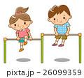 鉄棒 遊ぶ 子供のイラスト 26099359