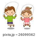 縄跳びをする子供 26099362