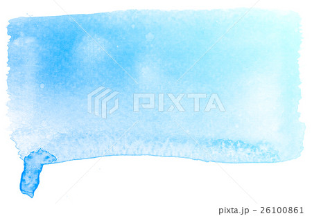 Abstract blue watercolor on white background.のイラスト素材 [26100861] - PIXTA