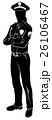 人影 影 シルエットのイラスト 26106467