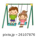 ブランコに乗る子供 26107876