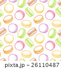 マカロン 洋菓子 ペストリーのイラスト 26110487