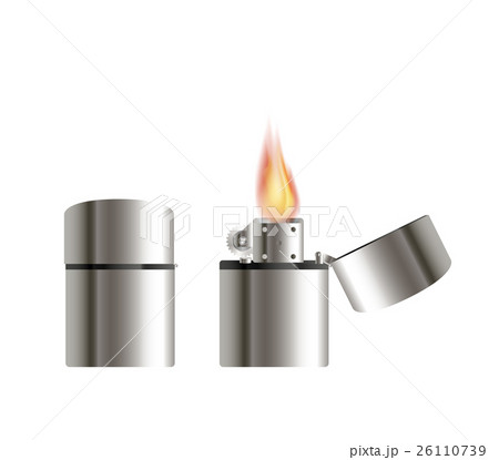 steel lighter on a white background 26110739