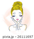 cartoon woman make up 26111697