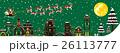 【季節の行事・風物詩(12月/クリスマス/冬)】そりをひくサンタクロース 26113777