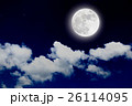 Romantic night with full moon with cloudscap. 26114095