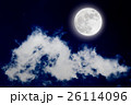 Romantic night with full moon with cloudscap. 26114096