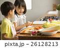 姉弟 子供 料理の写真 26128213