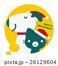 犬 猫 クリスマスのイラスト 26129604