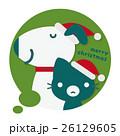 犬 猫 クリスマスのイラスト 26129605