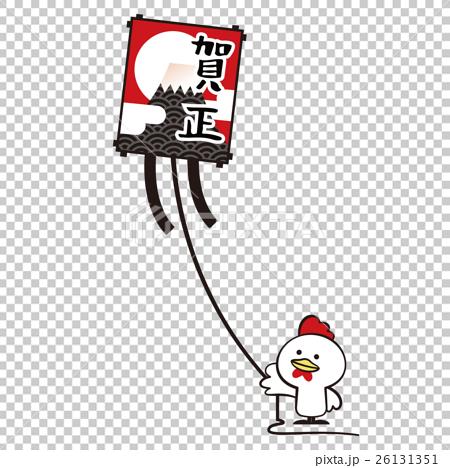 凧あげ【年賀状・シリーズ】 26131351