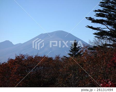 旧碓氷峠見晴台から浅間山を望む 26131494