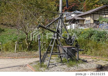 C87号井 綱式機械掘り石油井戸の...