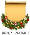 Vector Christmas Decoration with Scroll 26136897