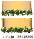 Vector Christmas Scroll Set 2 26136899