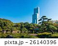 あべのハルカスと日本庭園 26140396