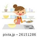 料理 お料理 女性のイラスト 26151286