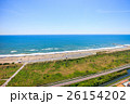 空撮 九十九里浜 長生村の写真 26154202