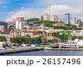 Vladivostok aerial panoramic view 26157496
