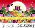 背景素材壁紙,クリスマスツリー,プレゼント,イルミネーション,オーナメント,冬,装飾,デコレーション 26158504