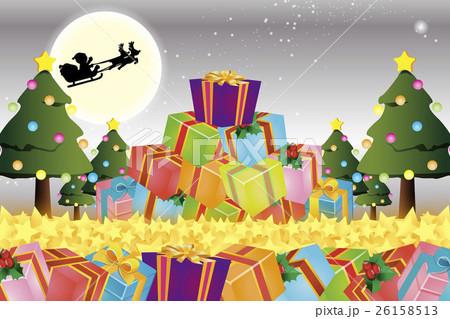 背景素材壁紙,クリスマスツリー,プレゼント,イルミネーション,オーナメント,冬,装飾,デコレーション 26158513