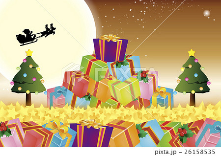 背景素材壁紙,クリスマスツリー,プレゼント,イルミネーション,オーナメント,冬,装飾,デコレーション 26158535
