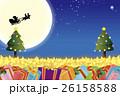 背景素材壁紙,クリスマスツリー,プレゼント,イルミネーション,オーナメント,冬,装飾,デコレーション 26158588