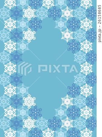 寒中お見舞い背景・雪の結晶02 26158685