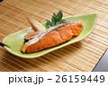 紅鮭 焼き魚 皿盛りの写真 26159449