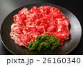 霜降り和牛バラ肉スライス皿盛り 26160340