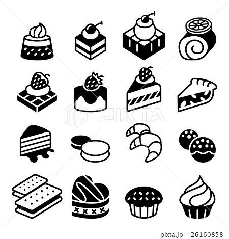 Dessert & Bakery icon setのイラスト素材 [26160858] - PIXTA