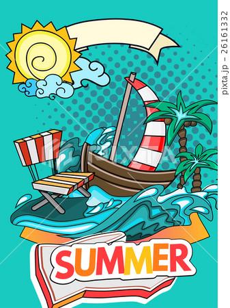 Summer style backgroundのイラスト素材 [26161332] - PIXTA