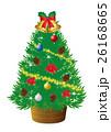 クリスマスツリー イラスト 26168665