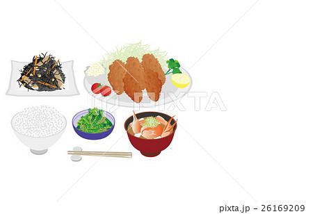 今日のご飯牡蠣フライのイラスト素材 [26169209] - PIXTA