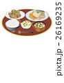 鯖の味噌煮 芋の煮っ転がし 浅漬けのイラスト 26169235