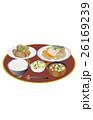 鯖の味噌煮 芋の煮っ転がし 浅漬けのイラスト 26169239