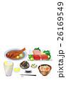 料理 まぐろ 金目鯛のイラスト 26169549
