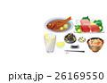 食べ物 料理 晩酌のイラスト 26169550