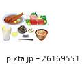 食べ物 料理 晩酌のイラスト 26169551
