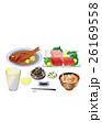 料理 まぐろ 金目鯛のイラスト 26169558