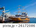 Large yellow sailing boat at Kobe Harbor 26172086