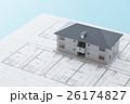 住宅図面と家 26174827